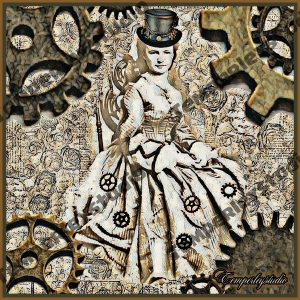 Steampunk maiden with cogs