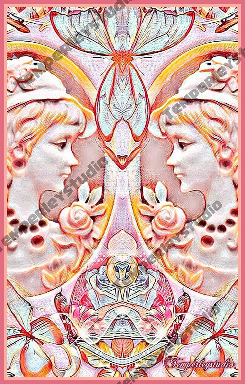 Shabby Lolita lady twins