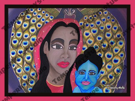 Krishna and Yasoda (mother and child) artwork print