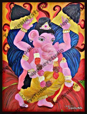 Hindu god Ganesha as a butterfly card