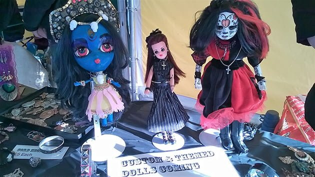 Selection of customised dolls