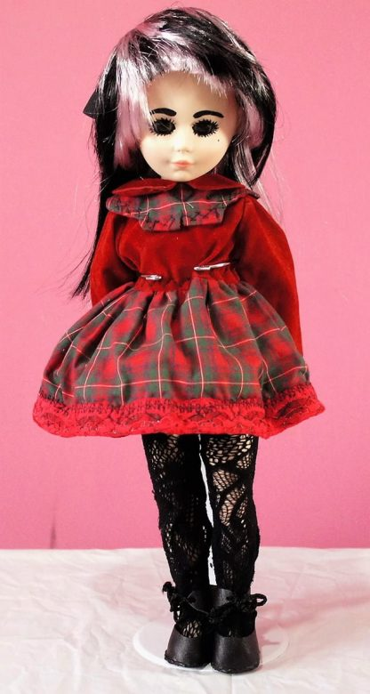 Red tartan Lolita dress