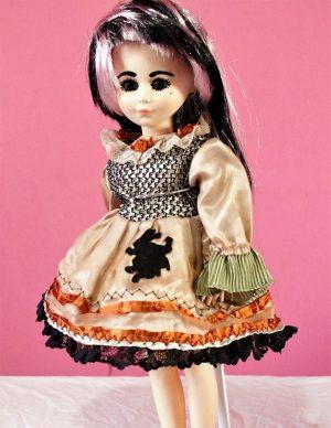 Wonderland Lolita rabbit silhouette dress