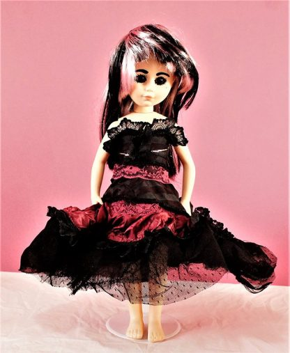 Gothic Burlesque black and red prom style dress