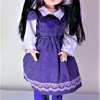 Purple Lolita pinafore dress