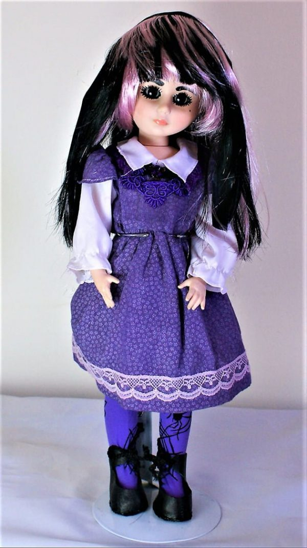Purple Lolita pinafore dress