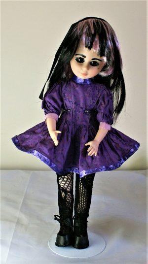 Purple Lolita flower print dress