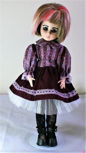 Victorian Lolita floral stripe dress
