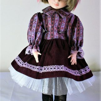 Victorian Lolita floral stripe dress