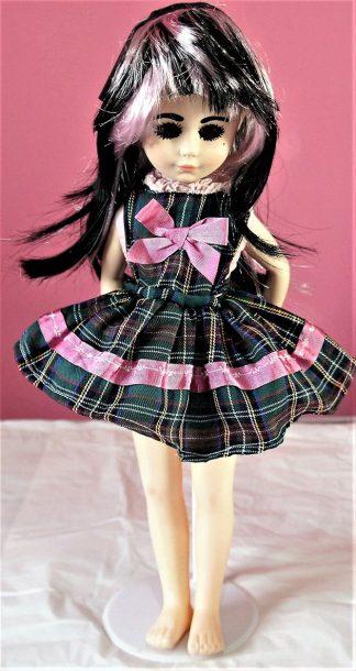 Lolita green tartan bow dress