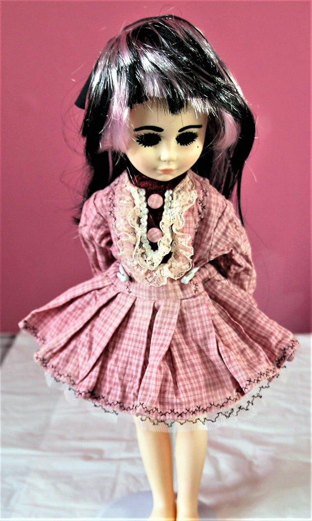 Victorian Lolita pink check dress