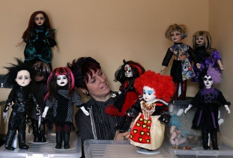 Michelle with her Re-Vamped Dolls