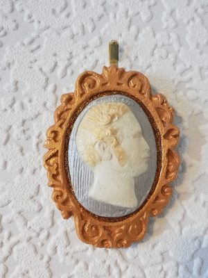 Prince Albert 3D gold and silver cameo wall plaque