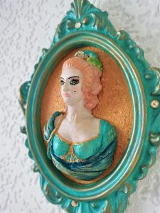 Marie Antoinette 3D ornate wall plaque