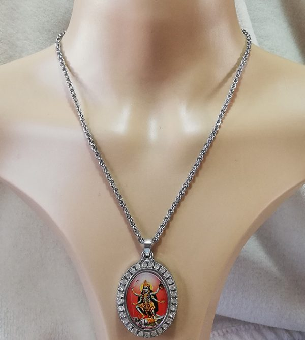 Kali jewelled cameo necklace