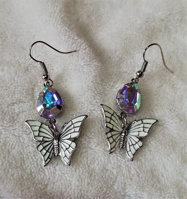 Rainbow crystal butterfly