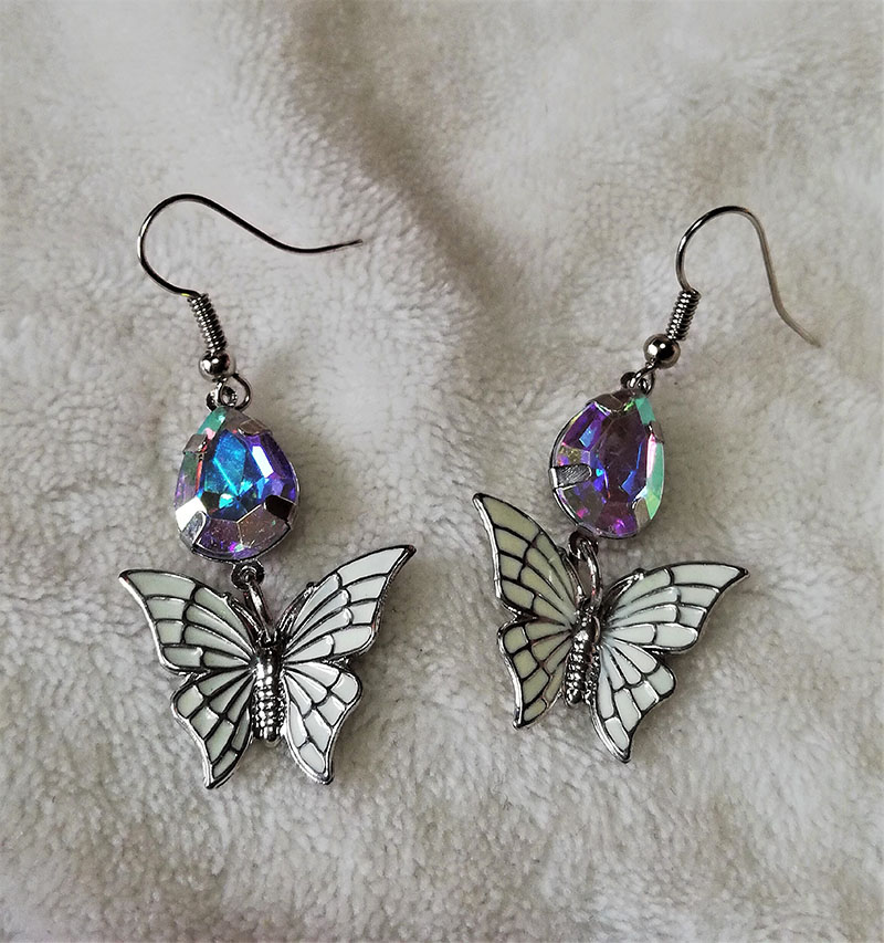 Rainbow crystal butterfly