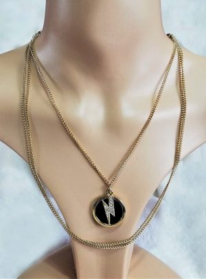Gaga Bowie lightening bolt pendant necklace