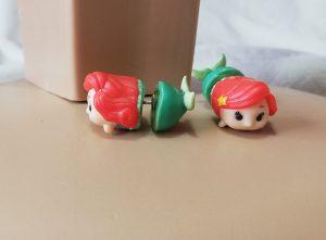 Tsum Tsum Ariel Disney 3D fake gauge earrings