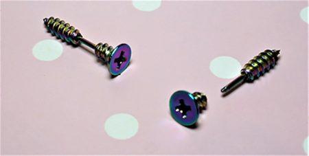 Punk Harajuku irridescent screw earrings unisex